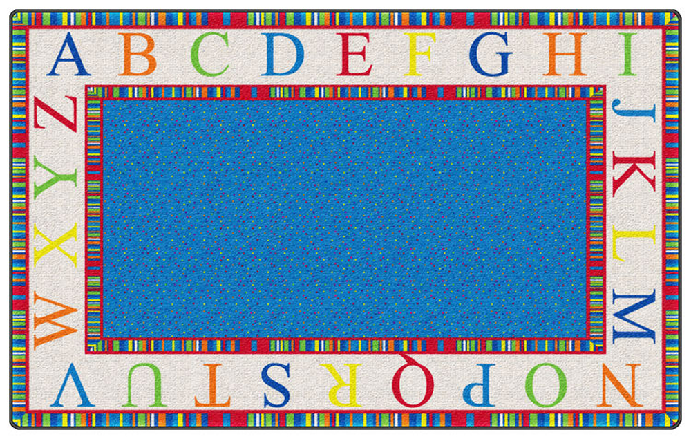 Alphabet Stripes - Bright Rug - Multiple Sizes