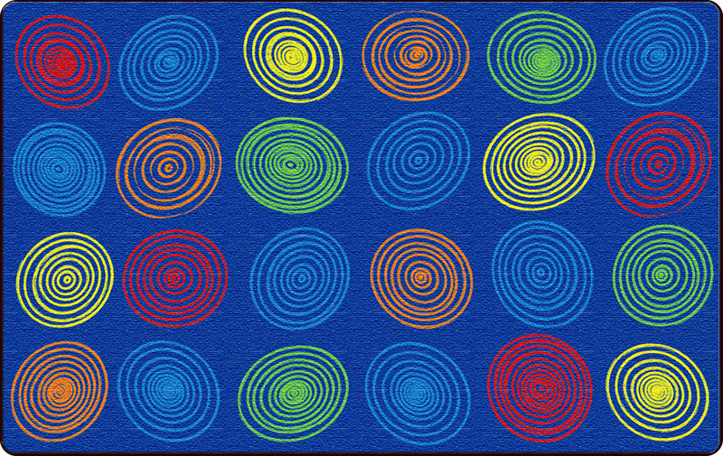 Circles Primary Rug - 2 Sizes