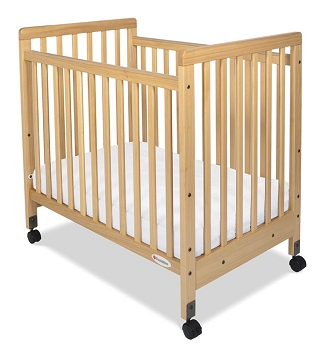 SafetyCraft Compact Fixed-Side Crib - Slatted End Panels