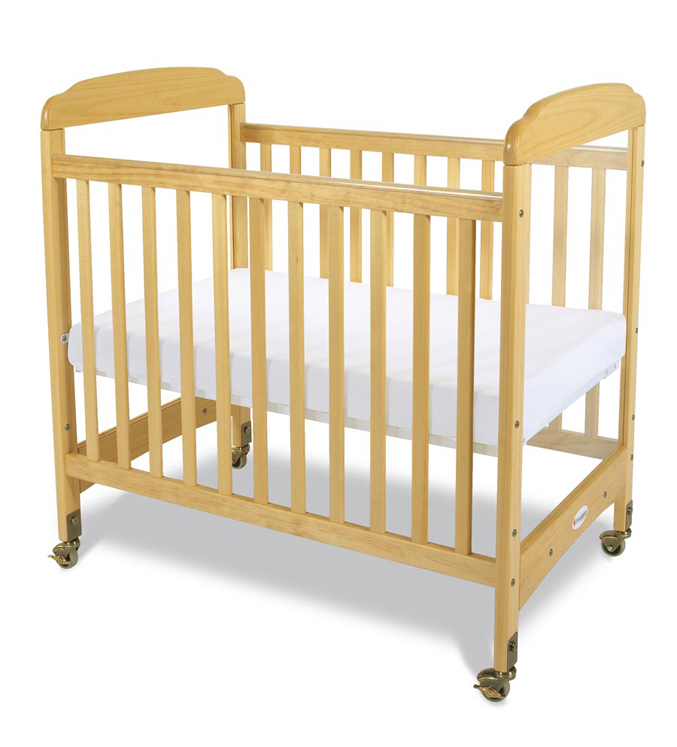 Next Gen Serenity Compact Clearview Fixed Side Crib