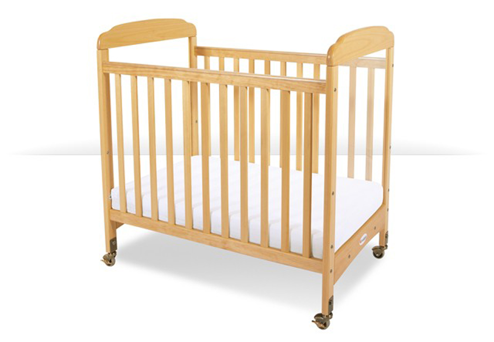 Next Gen Serenity Compact Mirror Fixed Side Crib with Adjustable Mattress Board