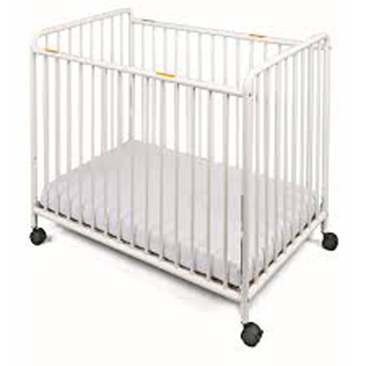 Chelsea Compact Non-Folding Slatted Steel Crib