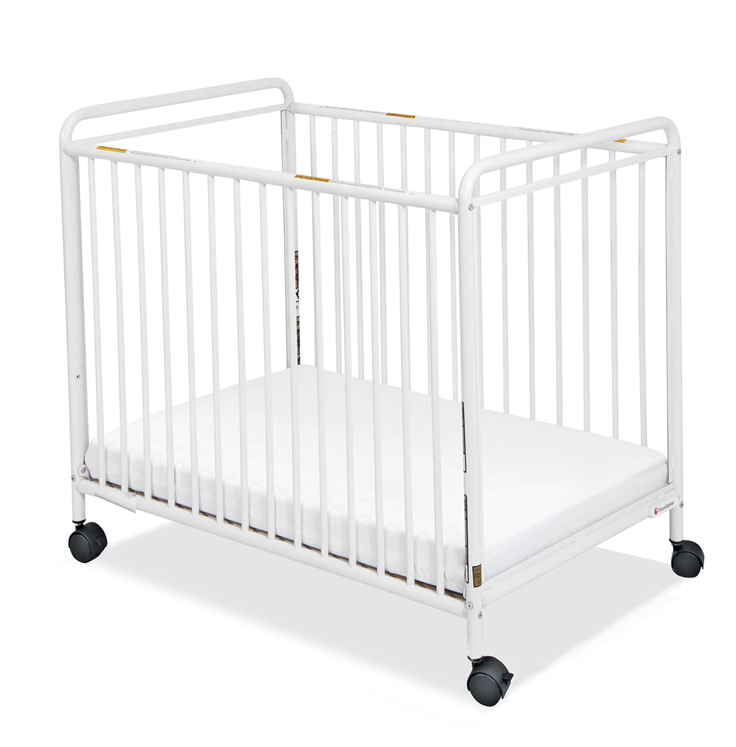 Chelsea Compact Non-Folding Steel Clearview Crib