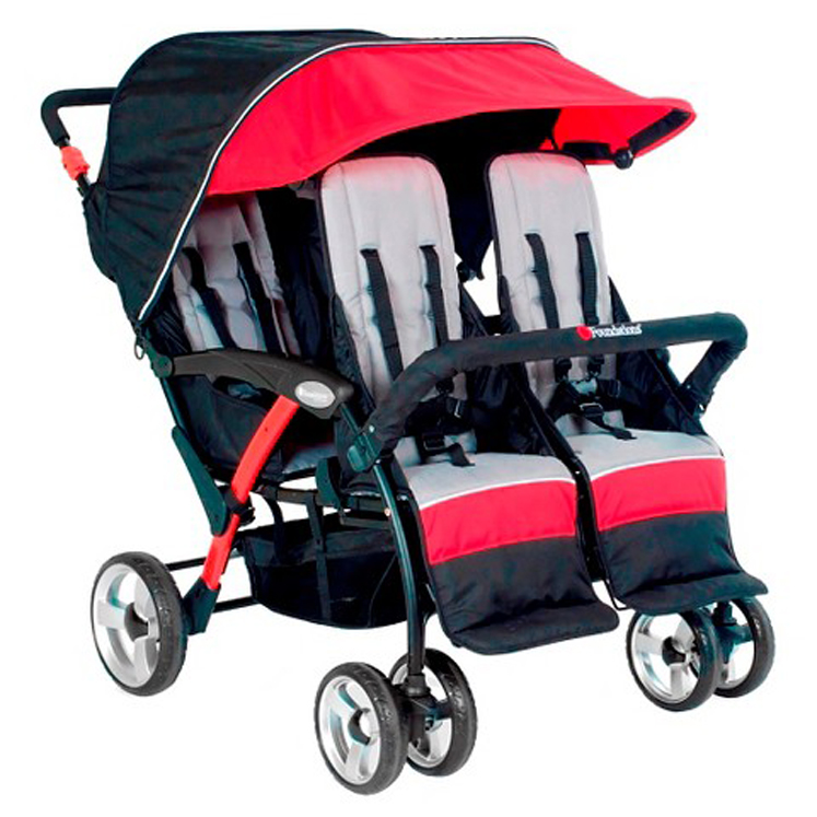 Quad Sport 4-Passenger Stroller - Multiple Colors