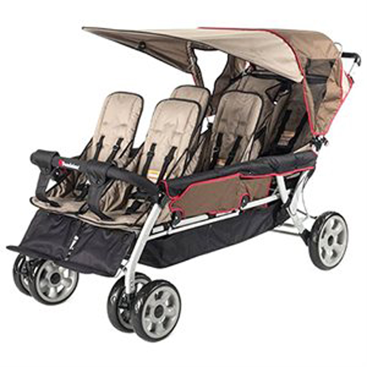 The LX6 6-Passenger Stroller, Regatta Blue or EarthScape