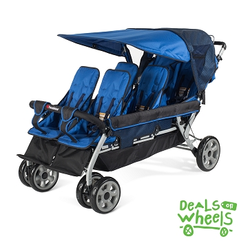 The LX6 6-Passenger Stroller - Regatta Blue