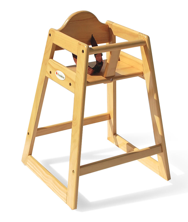 Wood High Chair - Natural Finish