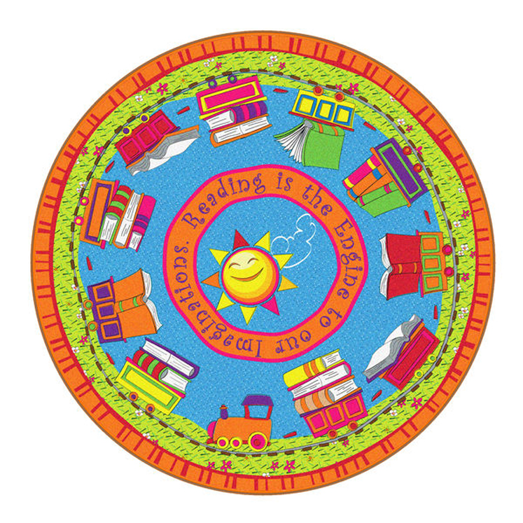Reading Is The Engine Rug - Round - 2 Sizes