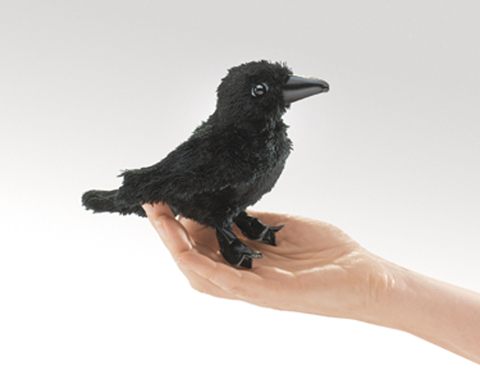 Mini Raven Finger Puppet