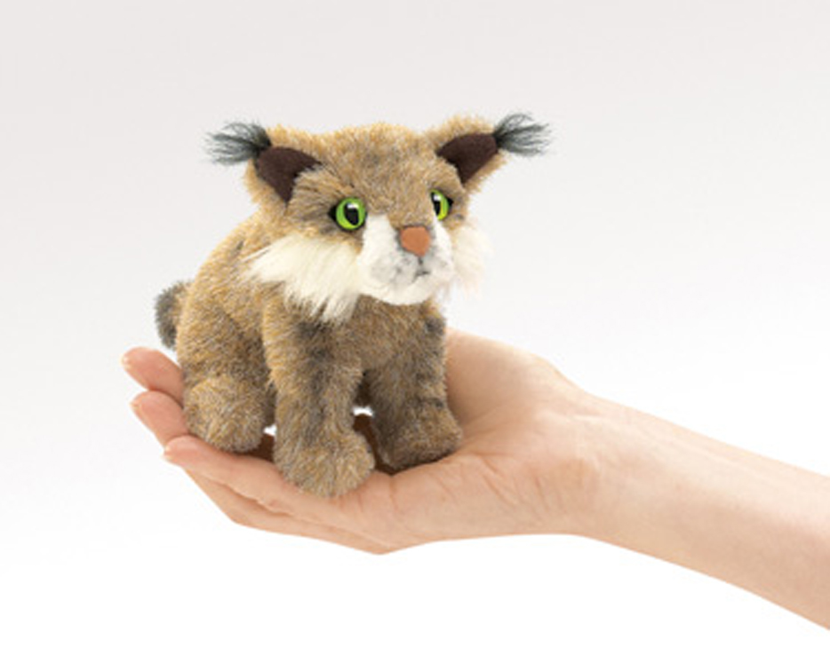 Mini Bobcat Finger Puppet