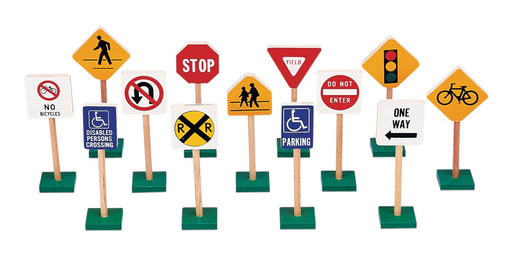 7'' Block Play Traffic Signs
