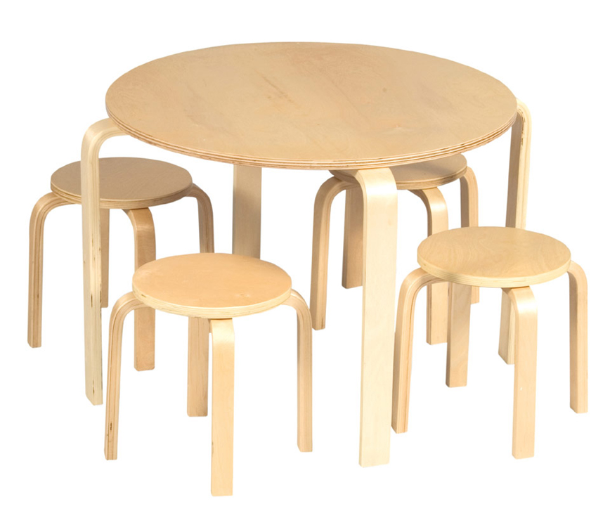 Nordic Table and Chair Set - Natural
