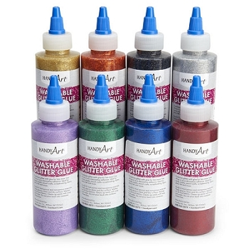 Handy Art Washable Glitter Glue - Choice of 8 Colors, 8 oz