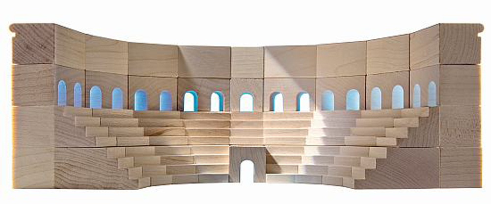 Roman Coliseum Architectural Building Blocks