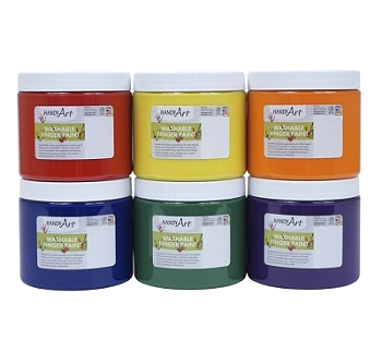 Handy Art  Washable Finger Paint, 16 oz - Choice of 11 Colors