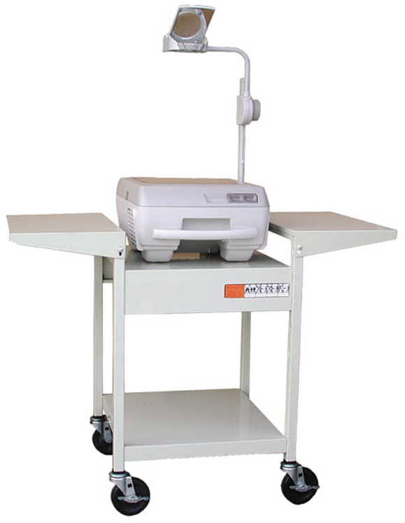 Sit Down Overhead Projector Cart - Adjustable Options