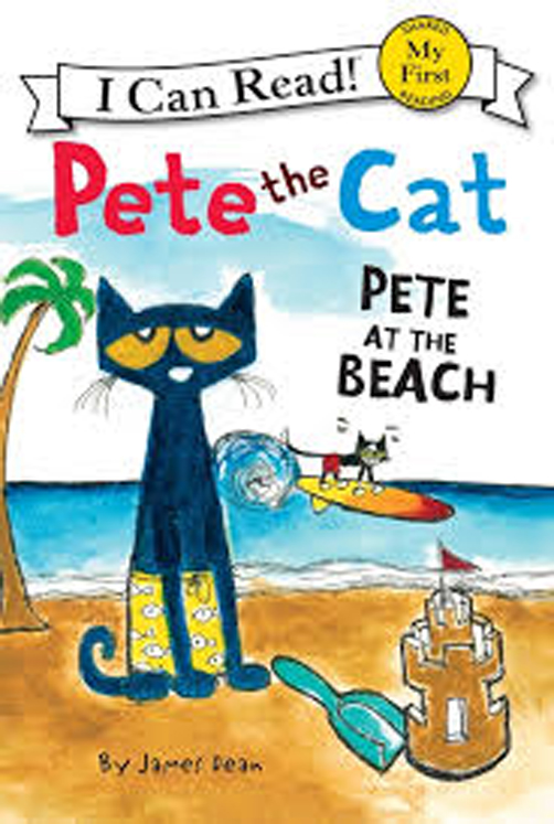 Pete the Cat: Pete at the Beach - Hardcover Book