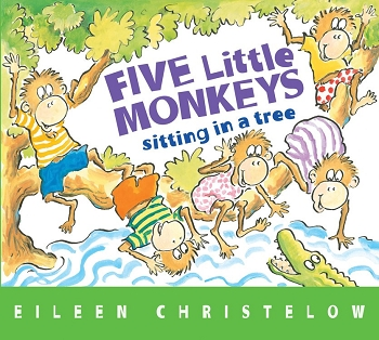 Five Little Monkeys Sitting in a Tree Board Book