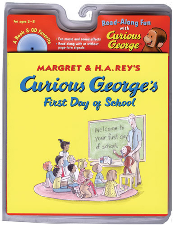 Carry Along Book & CD, Curious George's  First Day of School