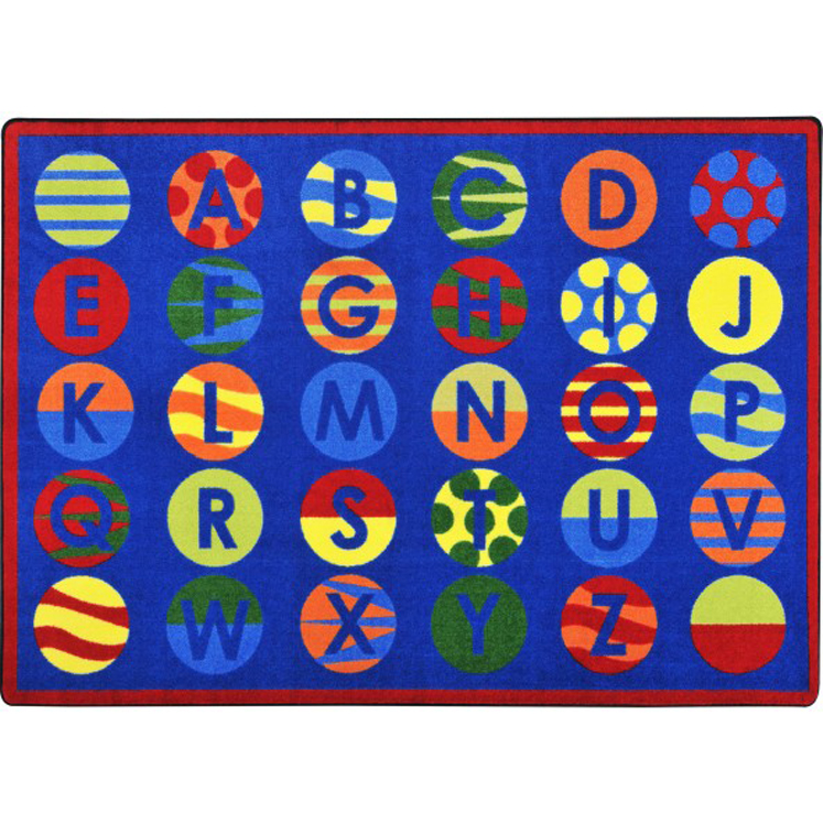 Alphabet Patterns Rug - Multiple Sizes