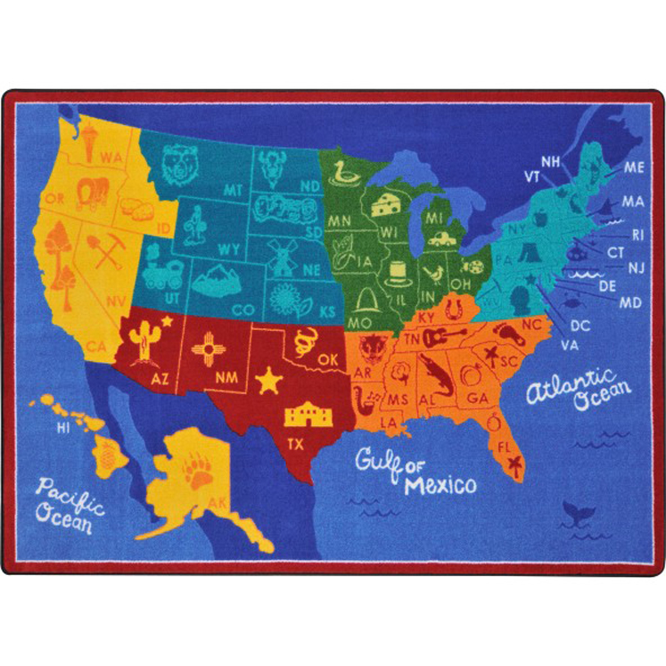 States of the Nation Rug - Multiple Sizes