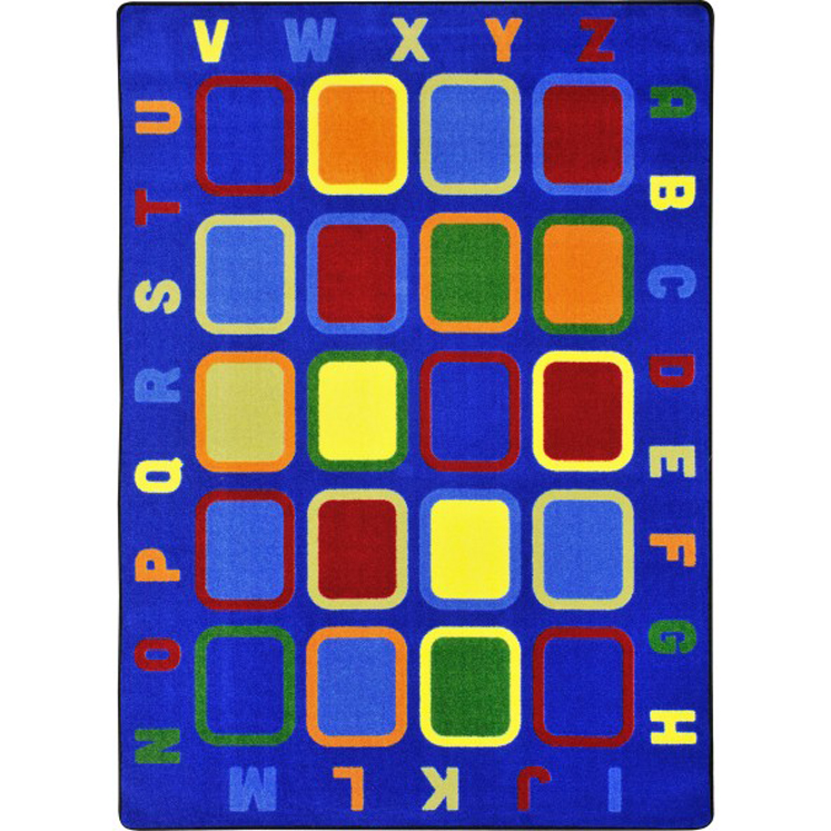 Alphabet Tiles Rug - Multiple Sizes Available
