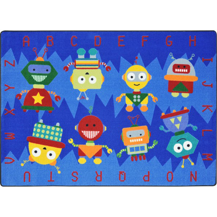 Alphabet Bots Rug - Multiple Sizes Available