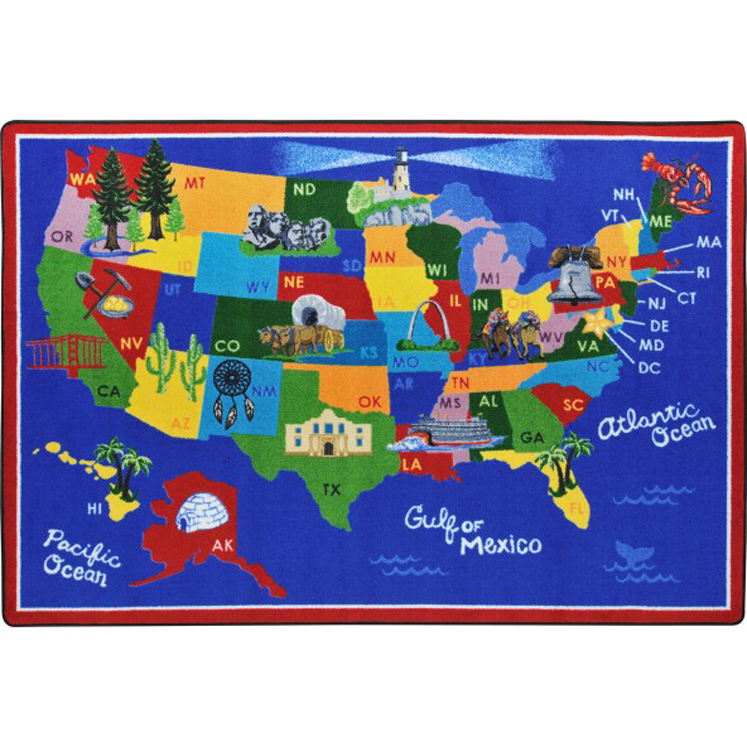 America The Beautiful Rug - Multiple Sizes