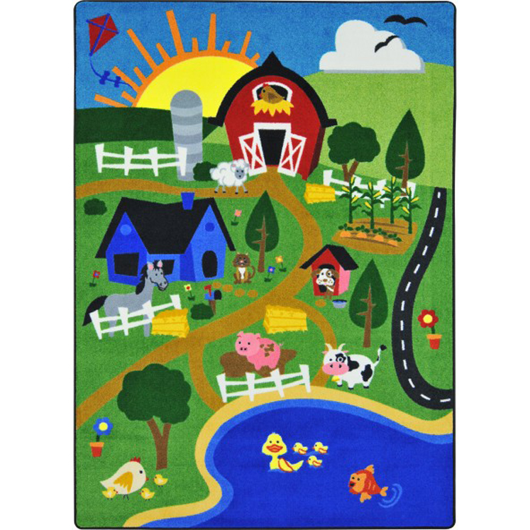 Happy Farm Rug - Multiple Sizes Available