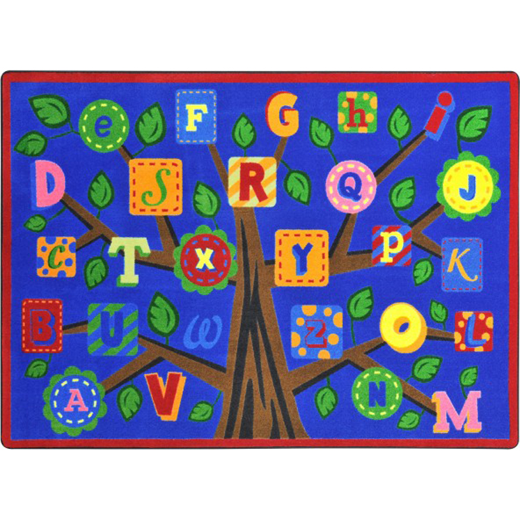 Alphabet Leaves Carpet - Multiple Sizes Available