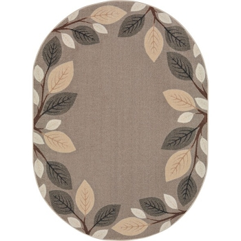 Breezy Branches Neutral Carpet, Oval - 2 Sizes Available
