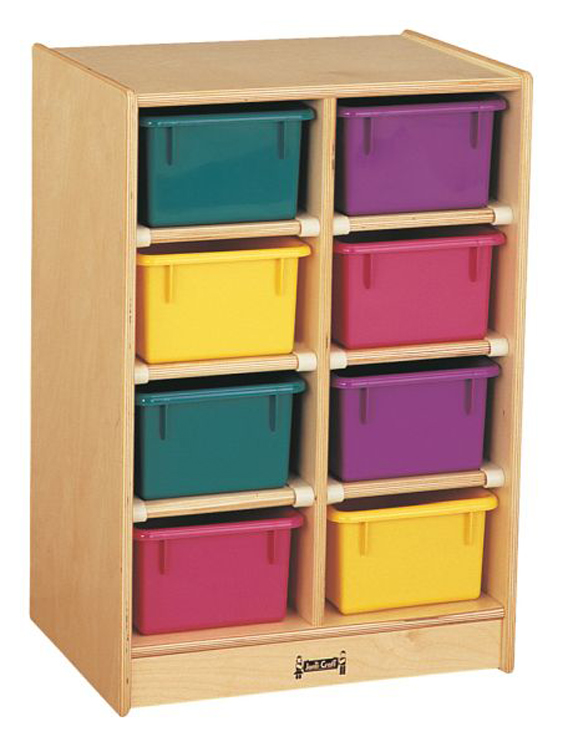 8 Tray Mobile Storage with Colored Trays