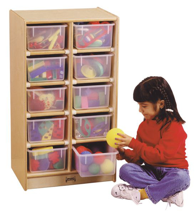 10 Tray Mobile Storage with Clear Trays