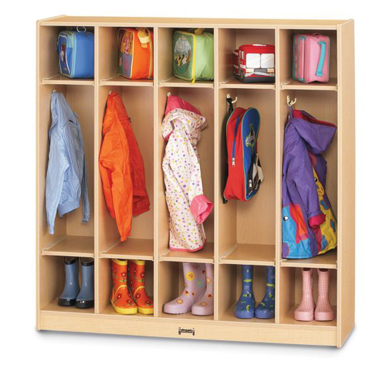 Maple Wave Coat Locker - 5 Sections
