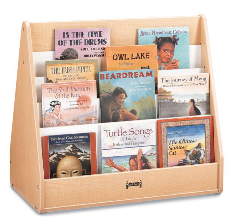 Maple Wave Pick-A-Book Stand - 2 Sided