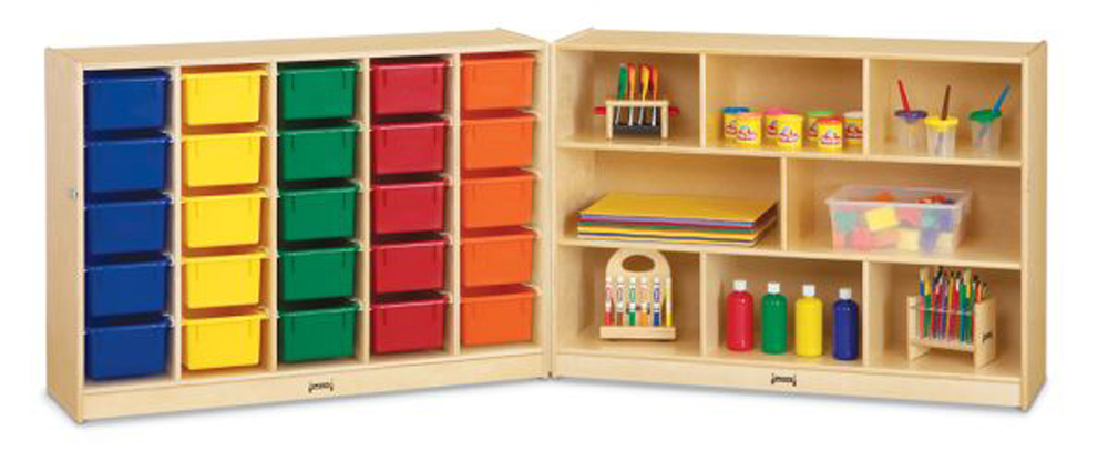E-Z Glide Fold-N-Lock - 25 - with Colored Trays