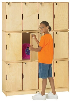 Stacking Lockable Lockers - Triple Stack