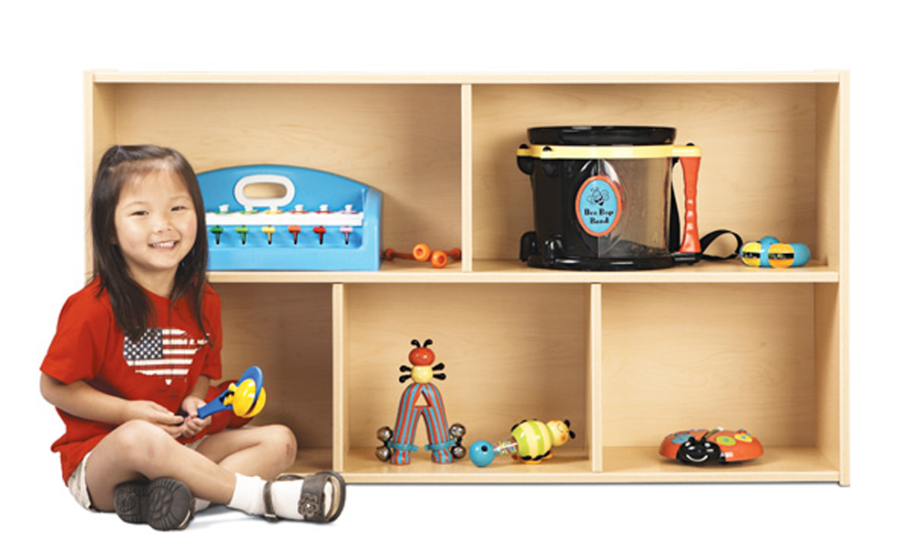 Young Time  School Age Storage - 2 Shelf