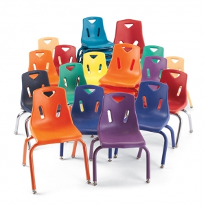 Berries Chairs with Powder Coated Legs - 6 Pack