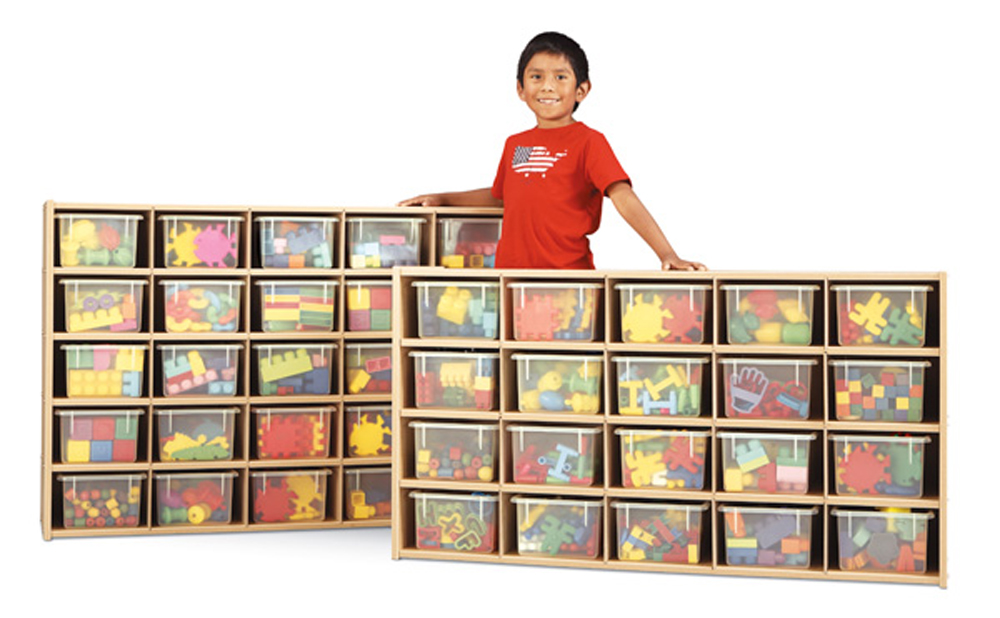 Young Time  Cubbie-Tray Storage - 20 or 25 Cubbies Available