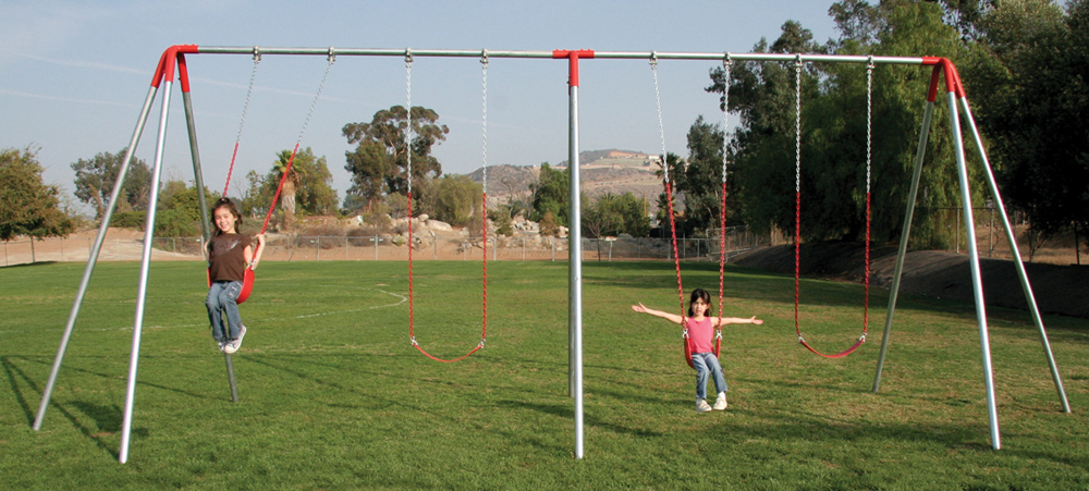 Commercial Swing Set - 2-Bay/4 Swings