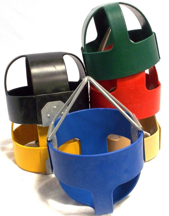 Tot Full Bucket Rubber Seat with Insert - Multiple Colors Available
