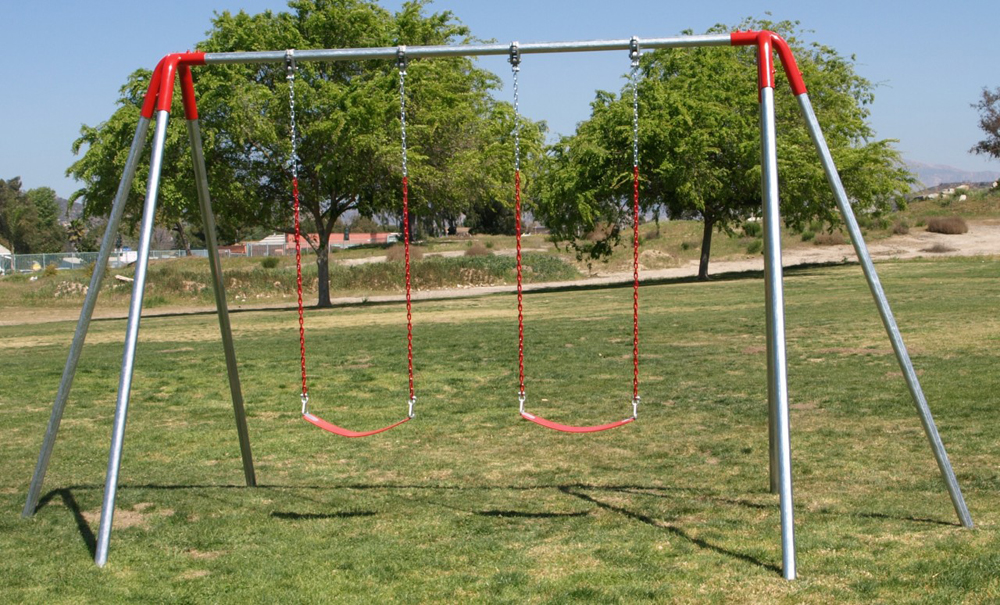 Commercial Swing Set - 1-Bay/2 Swings