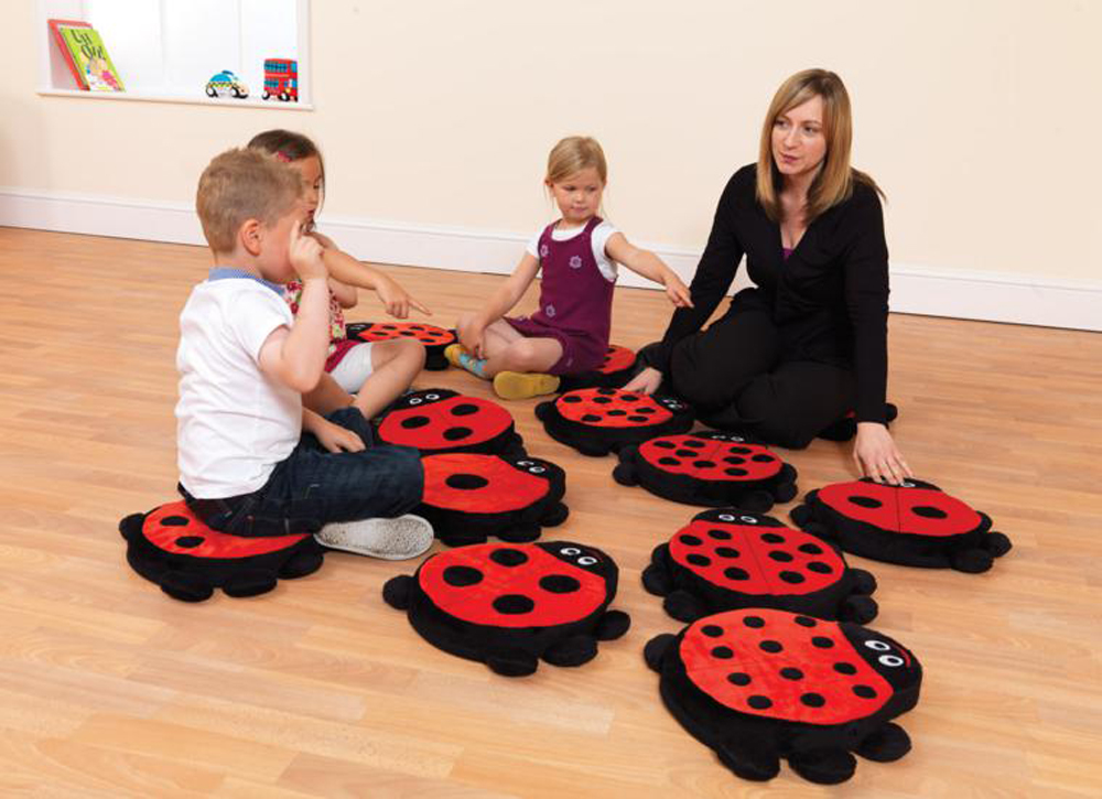 Back to Nature Ladybug Counting - Story Cushion