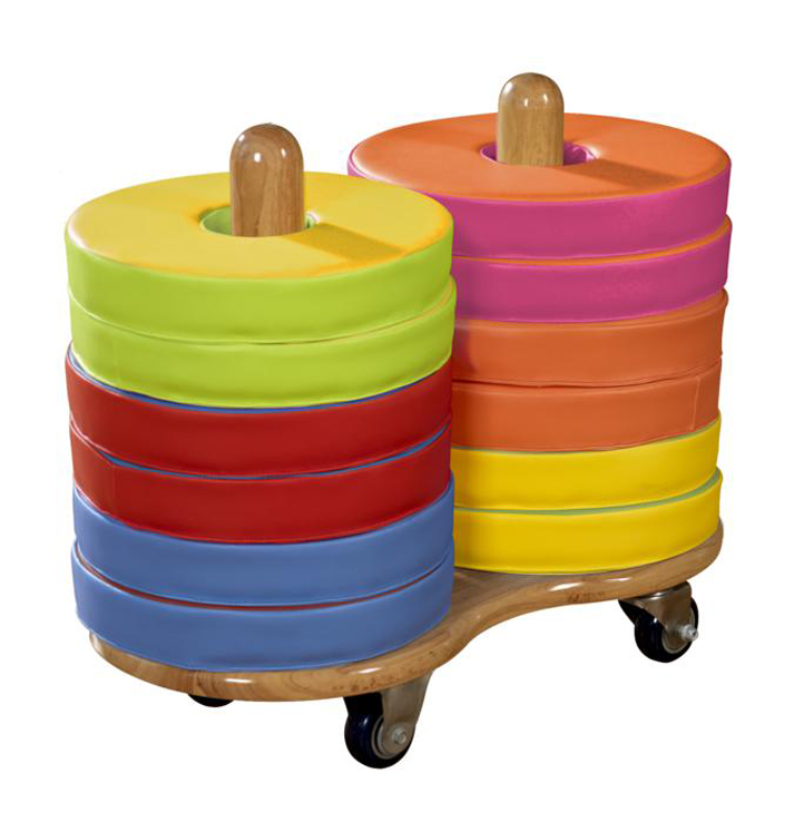 Donut Multi-Seat Cart including 12 Bi-Color Cushions