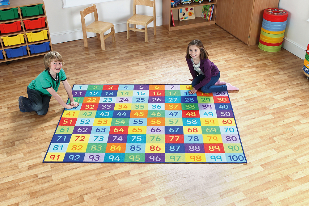 Rainbow Number Carpet 1 to 100