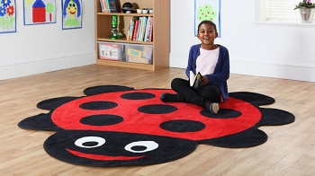 Back to Nature Giant Ladybug Shaped Indoor Carpet