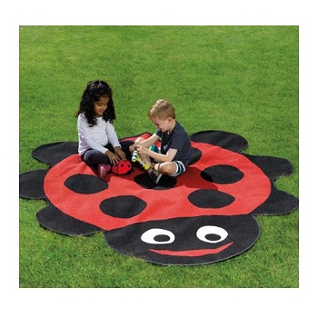 Back to Nature Ladybug Shaped Outdoor Mat