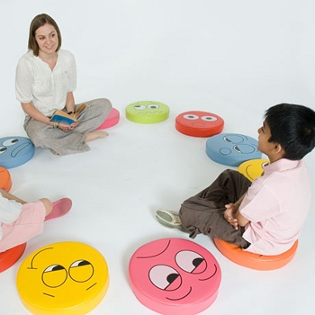 English Emotions Floor Cushions Pack 1 - Set of 6