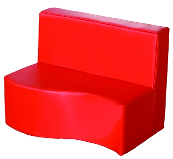 Kalocolor Modular Seating 2 Seat - Sofa Poppy Red